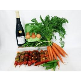 Flan aux légumes de Printemps et brochettes marinées pour 8 personnes