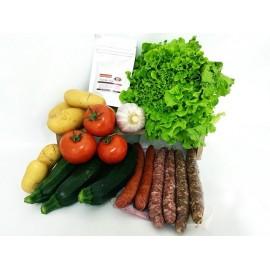 Panier saucisses et tian de légumes pour 4 personnes